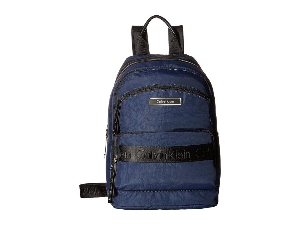 Calvin Klein - CKP Distressed Backpack (Navy) Backpack Bags