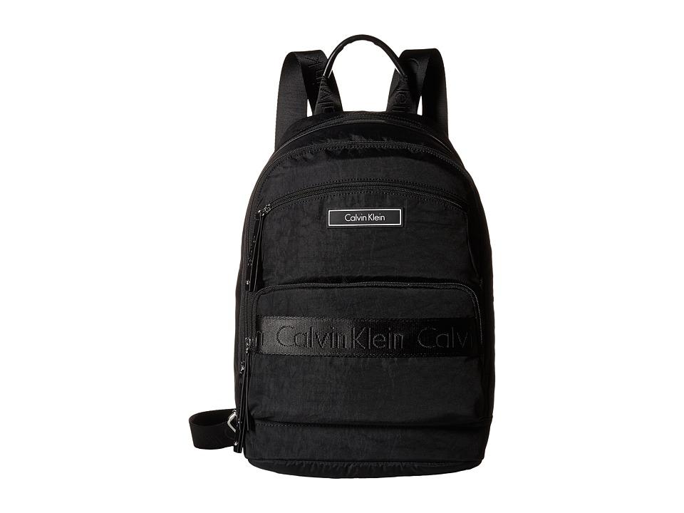 Calvin Klein - CKP Distressed Backpack (Black) Backpack Bags