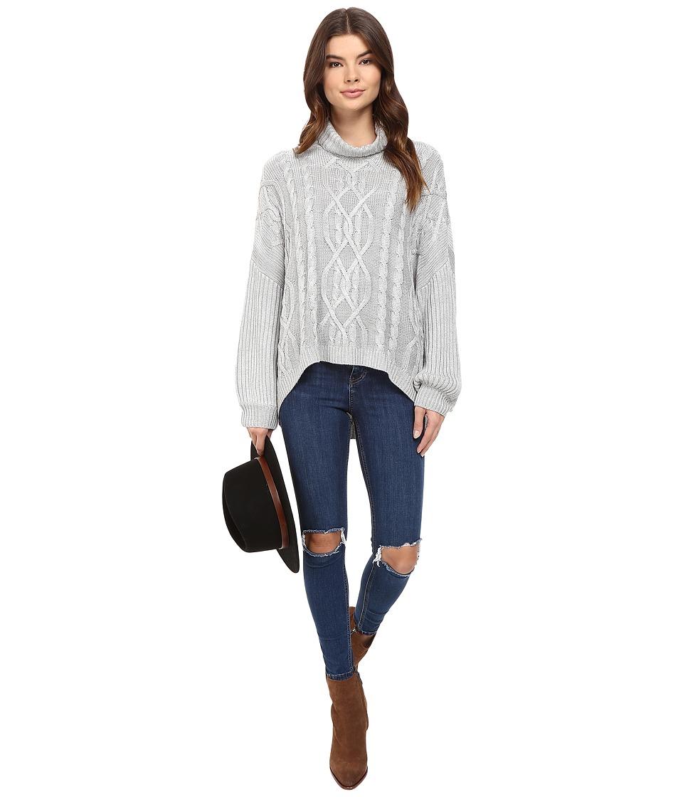 The Jetset Diaries - Rania Turtleneck (Heather Grey) Women's Sweater