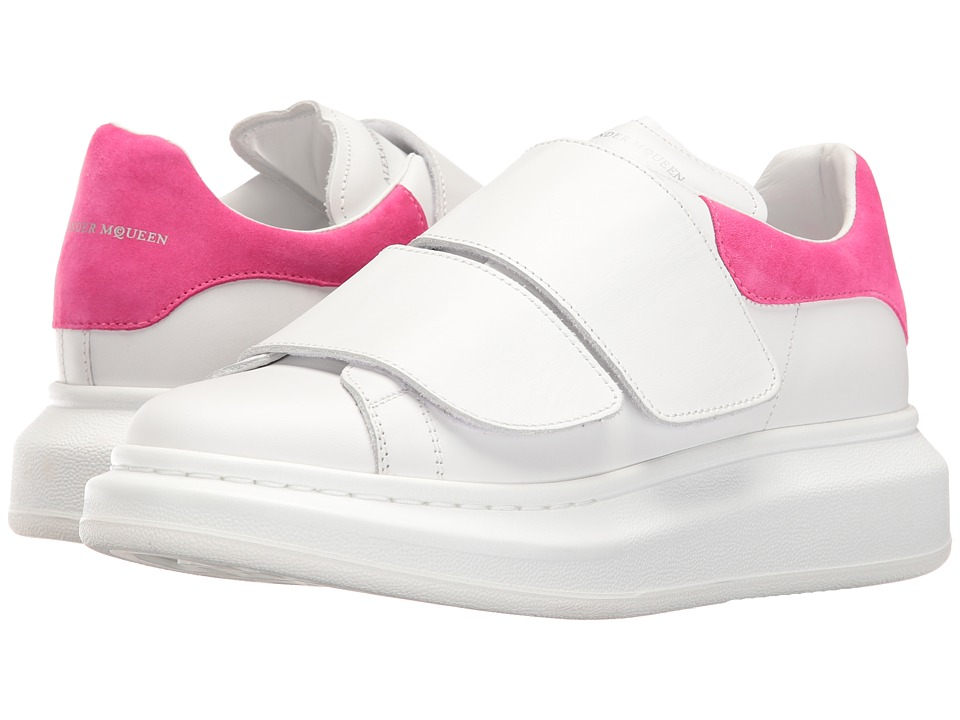 Alexander McQueen - Sneaker Pelle S.Gomma (White/Shocking Pink) Women's Shoes