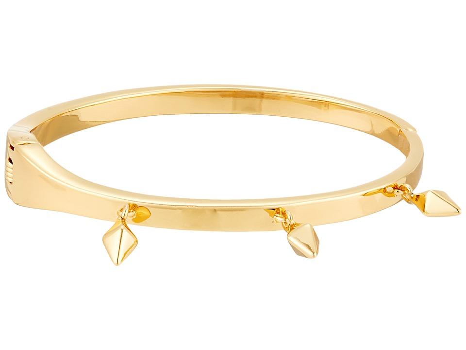 Rebecca Minkoff - Stud Charm Hinge Bangle (Gold) Bracelet