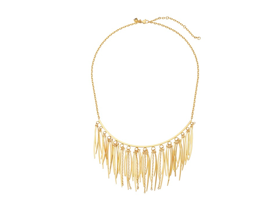 Rebecca Minkoff - Needle Statement Collar Necklace (Gold) Necklace