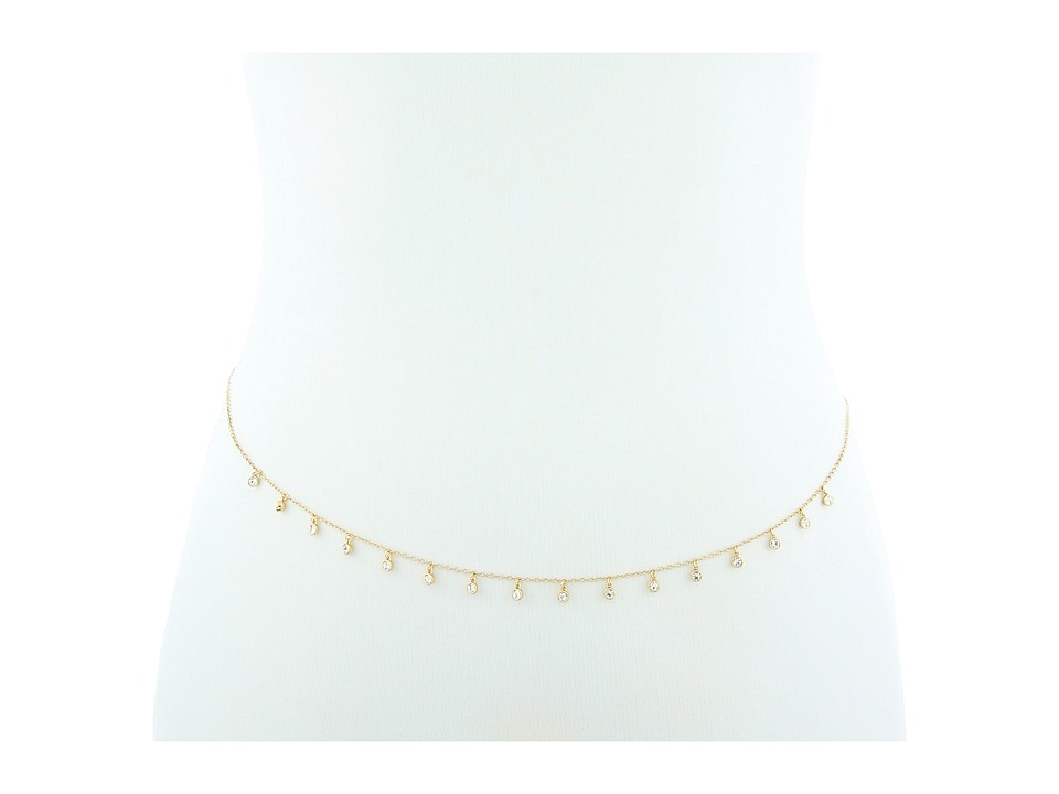 Rebecca Minkoff - Multi Crystal Strand Belly Chain Necklace (Gold/Crystal) Necklace