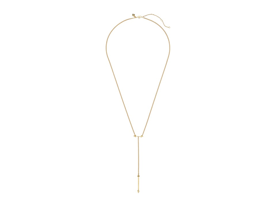 Rebecca Minkoff - Spiked Lariat Necklace (Gold) Necklace