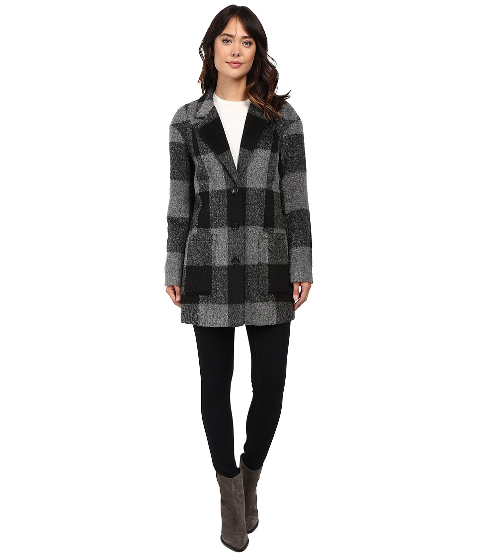 Levi's(r) - Oversized Boyfriend Coat (Black/Grey) Women's Coat