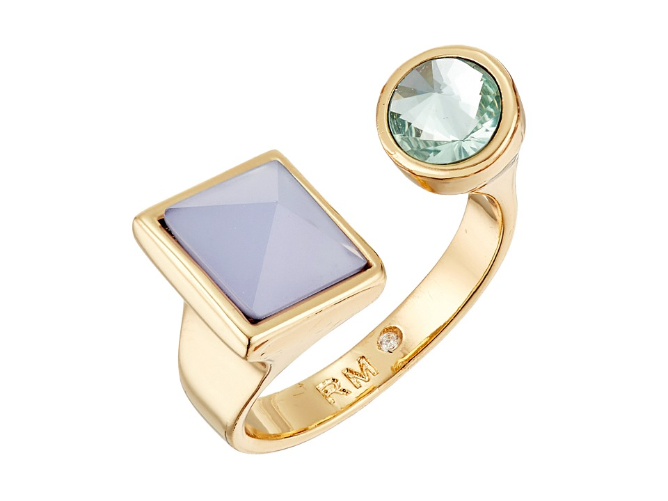 Rebecca Minkoff - Stone U Ring (Gold/Green/Blue) Ring
