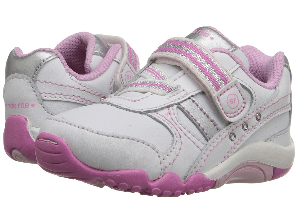 Stride Rite - SRT Lydia (Toddler) (White/Pink) Girls Shoes