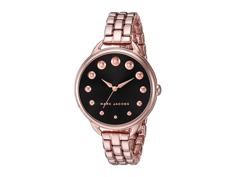 Marc Jacobs - Betty - MJ3495 (Black/Rose Gold Tone) Watches