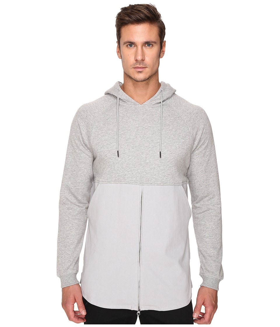 Publish - Fedde - Premium Heather Terry Hoodie with Fabric Blocked Bottom Zipper Closure (Heather) Men's Sweatshirt