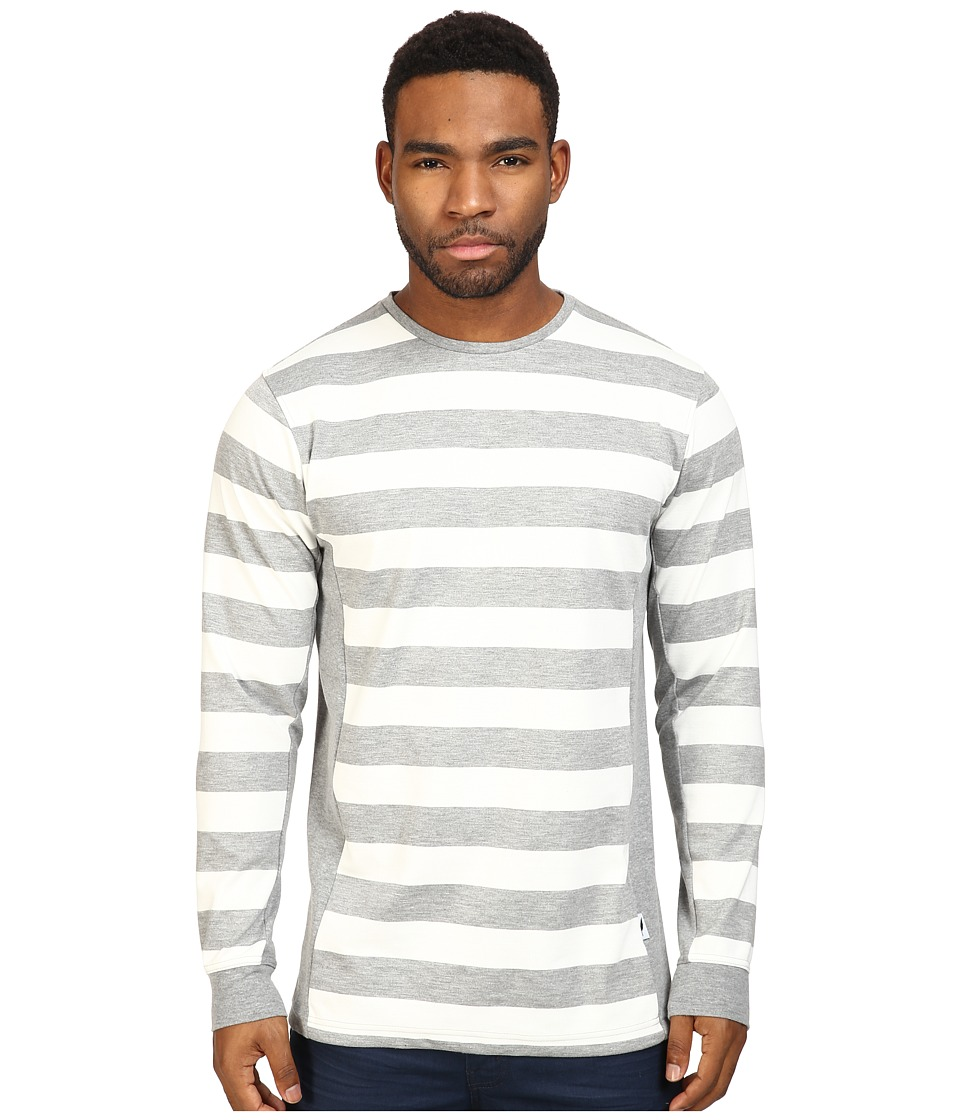 Publish - Jed - Premium Striped Knit on Long Sleeve Tee (Heather) Men's T Shirt
