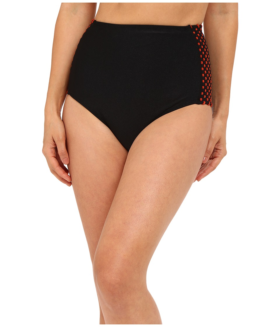 Agua De Coco by Liana Thomaz - Tresse Bottom (Black) Women's Swimwear