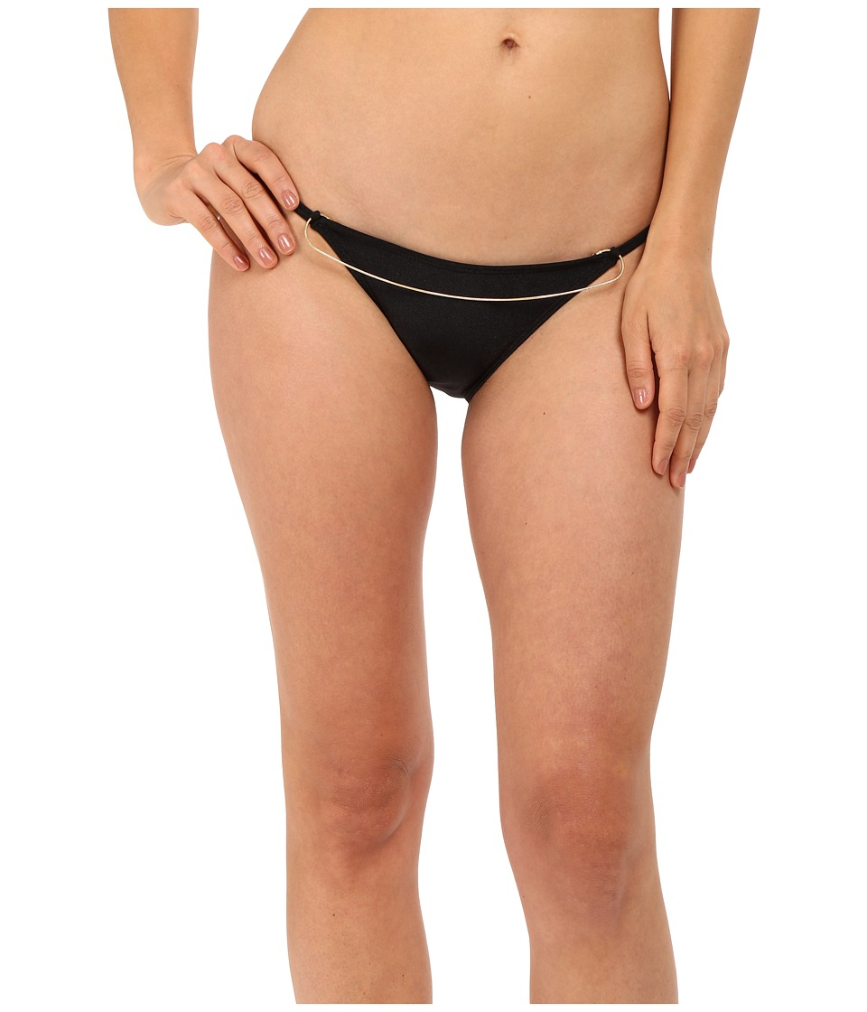 Agua De Coco by Liana Thomaz - Scoop Chain Bottom (Black) Women's Swimwear