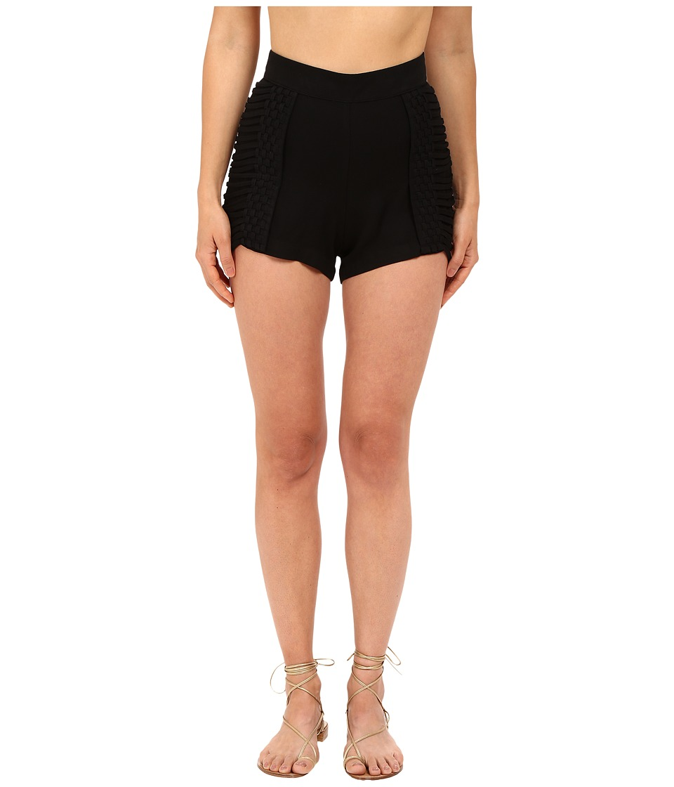 Agua De Coco by Liana Thomaz - Tresse Shorts (Black) Women's Swimwear