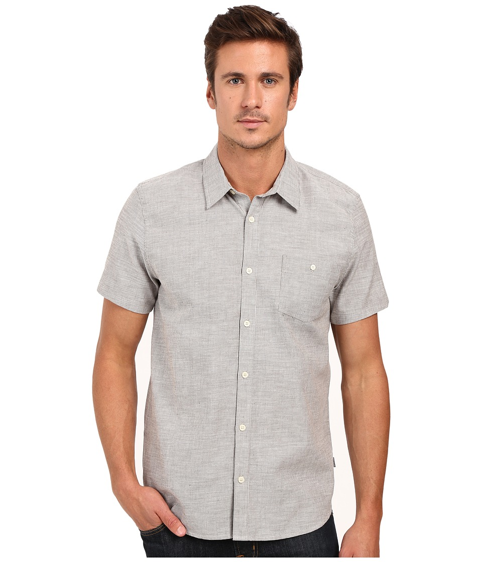 Threads 4 Thought - The Mesa Mini Stripe Shirt (Grey) Men's Short Sleeve Button Up