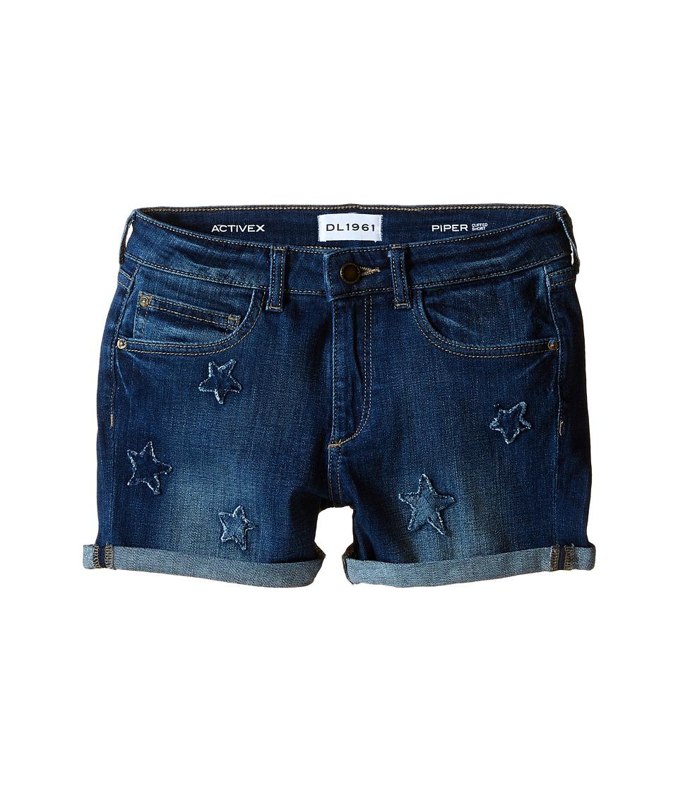 DL1961 Kids - Piper Cuffed Shorts in Gumdrop (Big Kids) (Gumdrop) Girl's Shorts