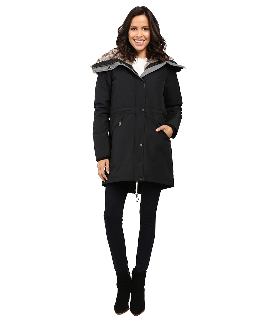 Vince Camuto - Faux Fur Trim Parka L1081 (Black) Women's Coat