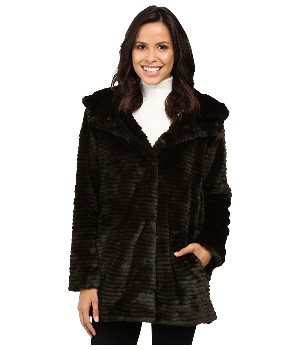 Vince Camuto - Faux Fur L1191 (Hunter) Women's Coat