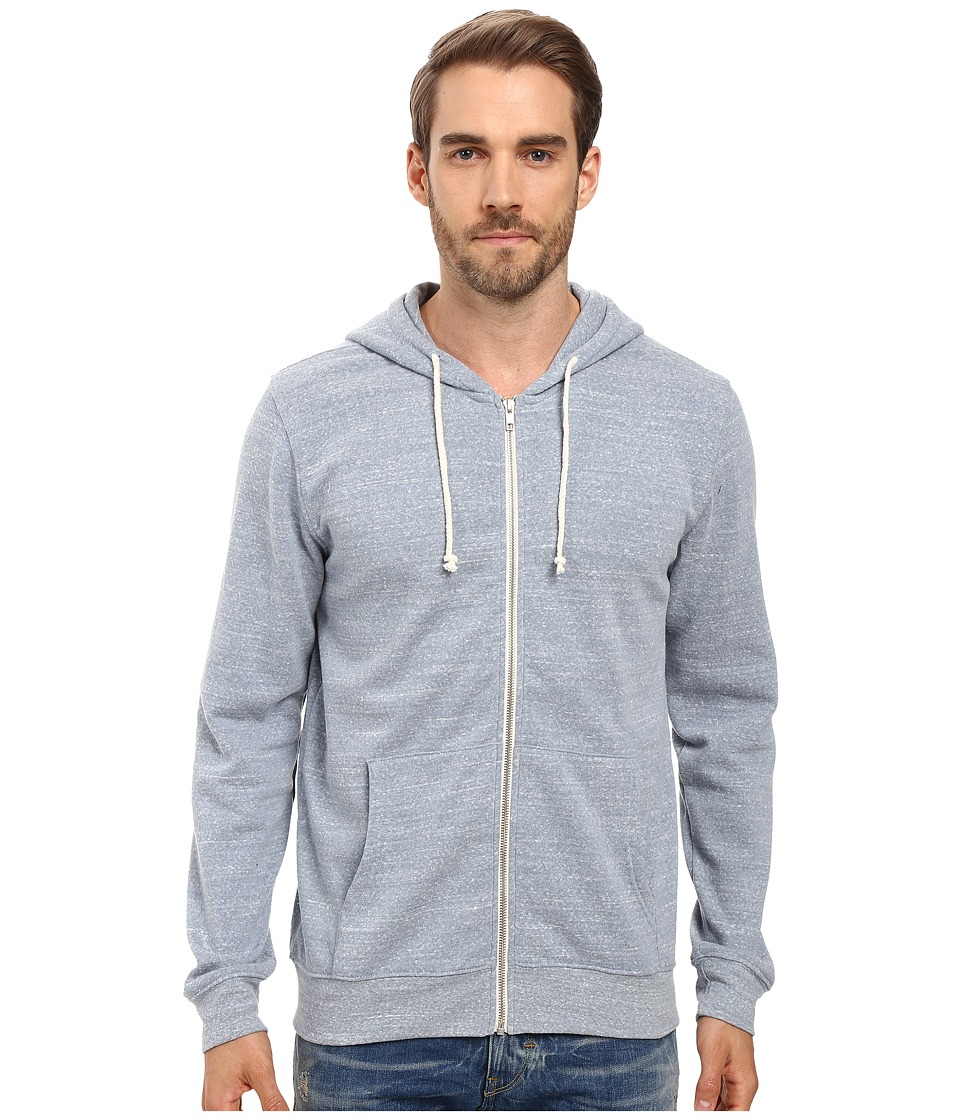 Threads 4 Thought - Triblend Zip Front Hoodie (Porcelain) Men's Sweatshirt