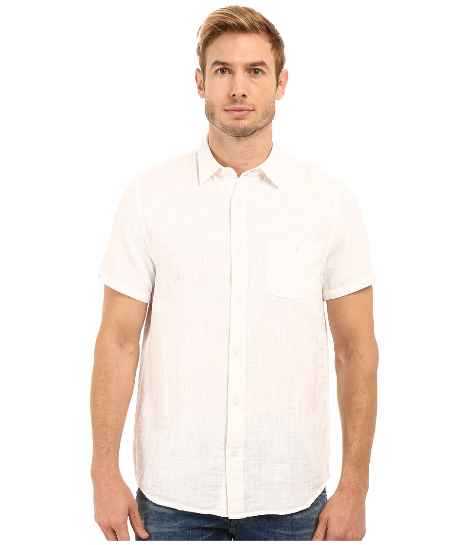 Threads 4 Thought - The Mesa Linen Weave Shirt (White) Men's Clothing