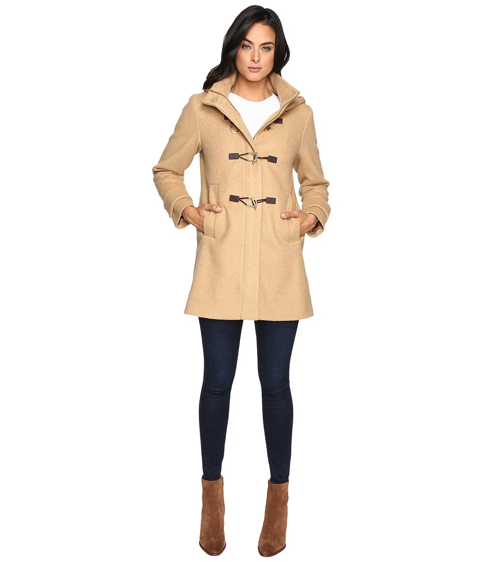 Vince Camuto - Hooded Toggle Closure Wool Coat L8311 (Camel) Women's Coat