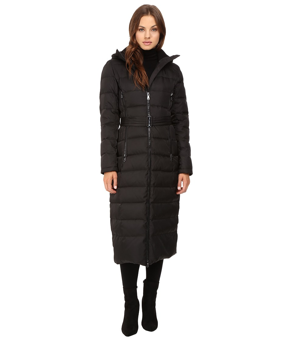 Vince Camuto - Long Belted Down L1851 (Black) Women's Coat