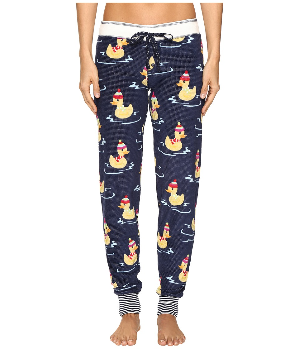 P.J. Salvage - Winter Ducks Thermal Jogger (Navy) Women's Pajama