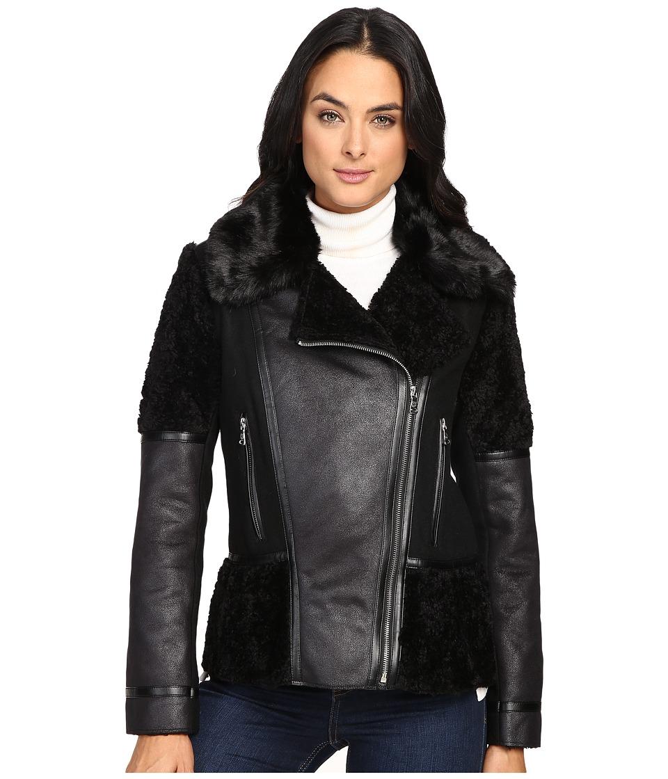 Vince Camuto - Shearling L8301 (Black) Women's Coat
