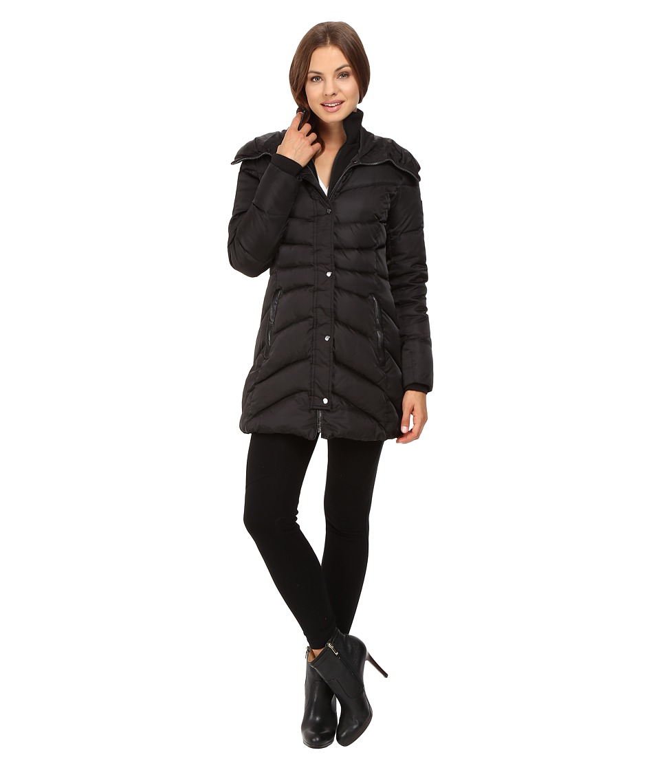 Vince Camuto - Down with Bib J8631 (Black) Women's Coat