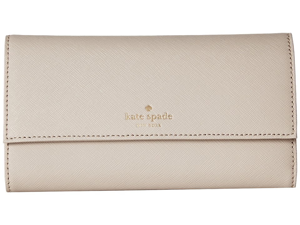 Kate Spade New York - Leather Phone Wallet - 6 (Crisp Linen) Wallet Handbags