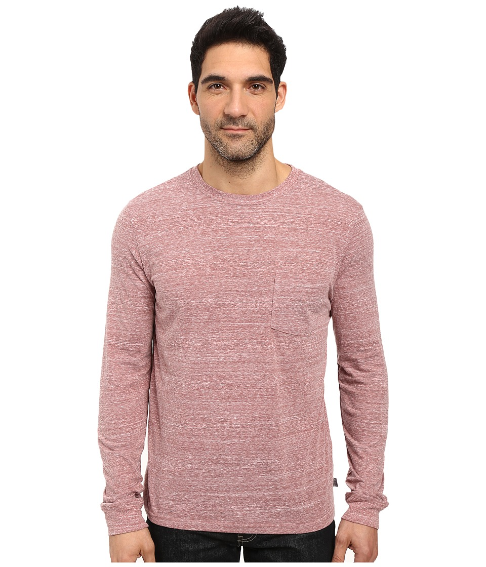 Threads 4 Thought - Tri-Blend Long Sleeve Pocket Tee (Brick) Men's T Shirt