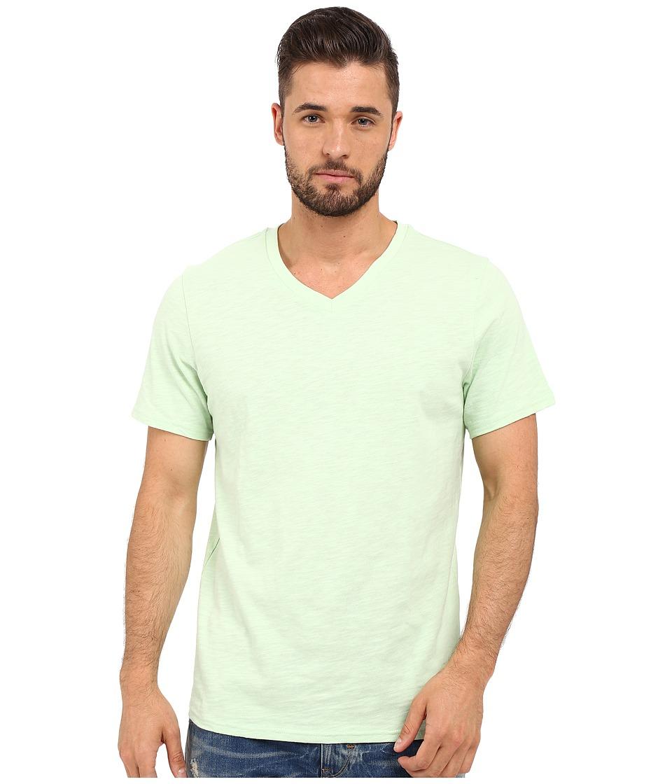 Threads 4 Thought - Robert V-Neck Slub Cotton (Seafoam Green) Men's T Shirt