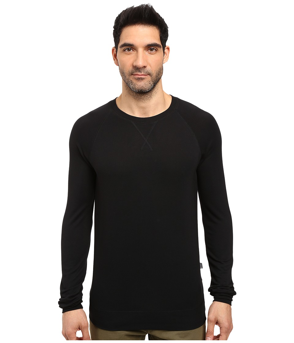 Threads 4 Thought - Baseline Raglan Modal Crew (Black) Men's Clothing