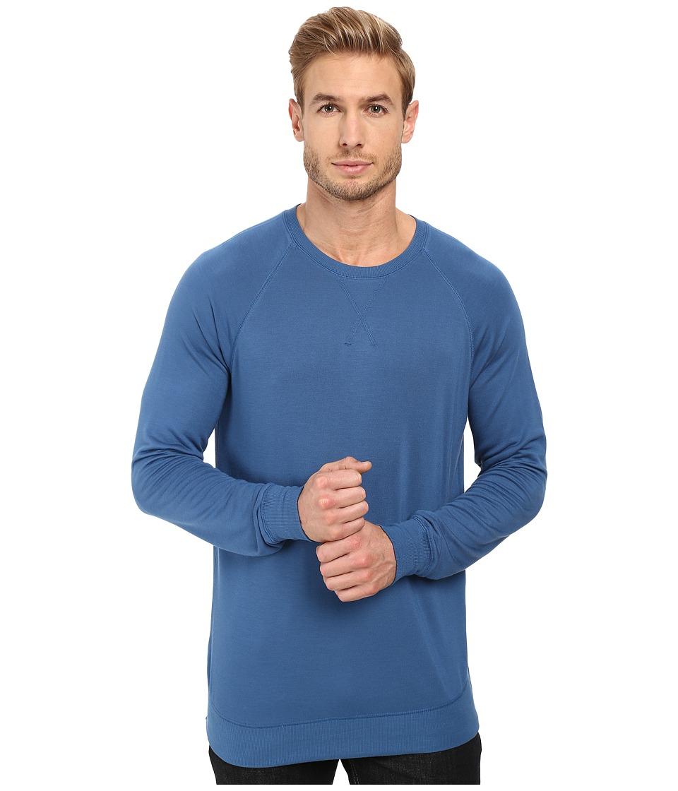 Threads 4 Thought - Baseline Raglan Modal Crew (Dark Blue) Men's Clothing