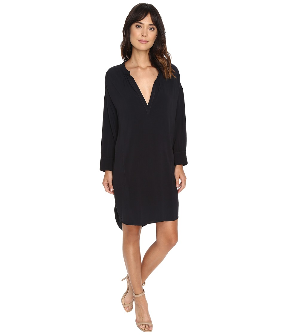 Michael Stars Modern Rayon 3/4 Sleeve Split-Neck Dress (Oxide) Women