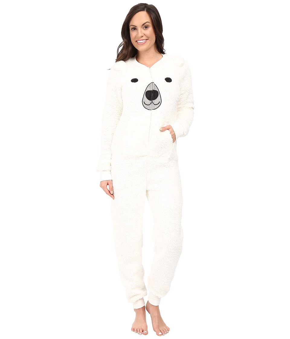 P.J. Salvage - Polar Bear Cuddle One-Piece (Ivory) Women's Jumpsuit & Rompers One Piece