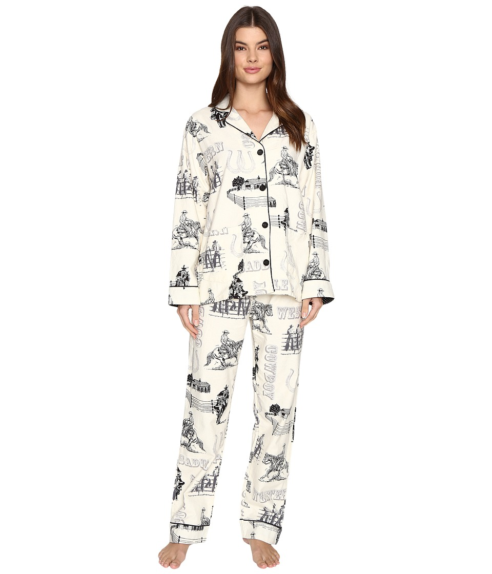 P.J. Salvage - Western Flannel PJ Set (Natural) Women's Pajama Sets