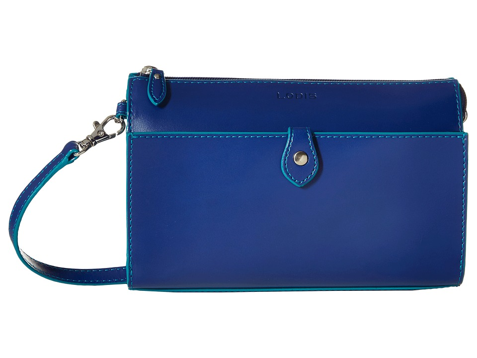 Lodis Accessories - Audrey Vicky Convertible Crossbody Clutch (Marine/Ivy) Clutch Handbags