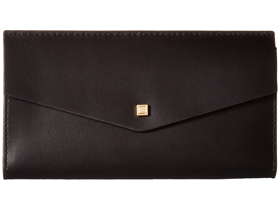 Lodis Accessories - Blair Amanda Continental Clutch (Black/Taupe) Clutch Handbags