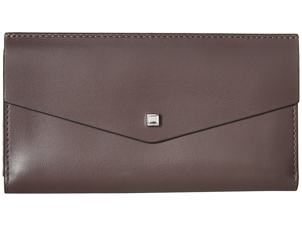 Lodis Accessories - Blair Amanda Continental Clutch (Lava/Taupe) Clutch Handbags