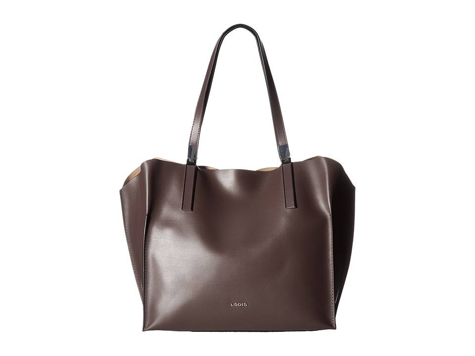 Lodis Accessories - Blair Unlined Anita East West Tote (Lava/Taupe) Satchel Handbags