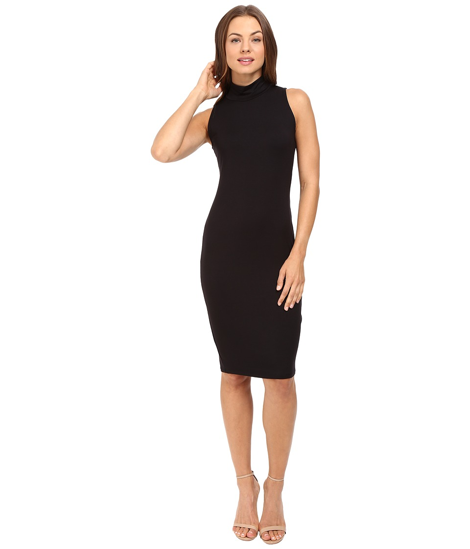 Michael Stars - Sleeveless Mock Neck Midi Dress (Black) Women's Dress