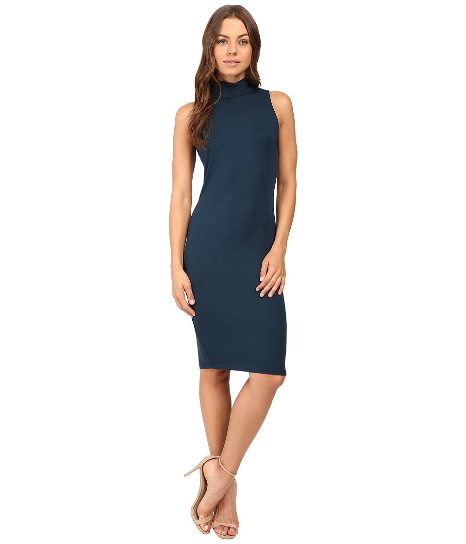 Michael Stars - Sleeveless Mock Neck Midi Dress (Everglades) Women's Dress