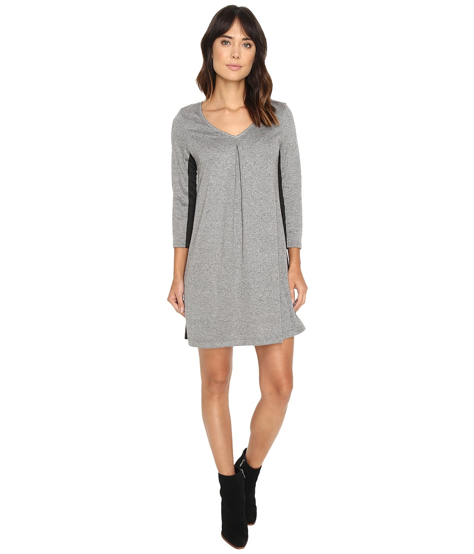 Michael Stars - Birdseye Brushed Pique A-Line Mini Dress (Heather Grey) Women's Dress