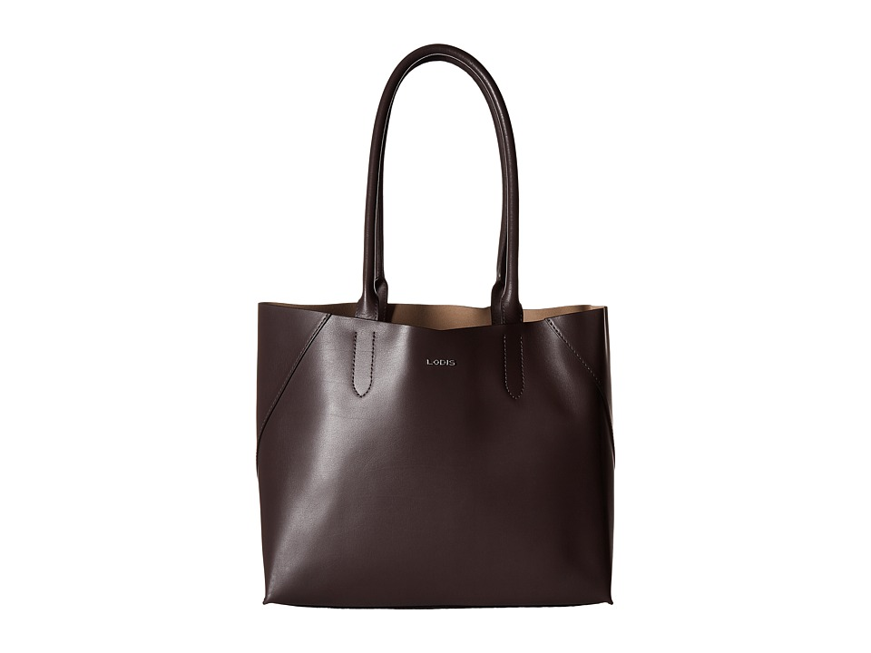 Lodis Accessories - Blair Cynthia Tote (Lava/Taupe) Tote Handbags