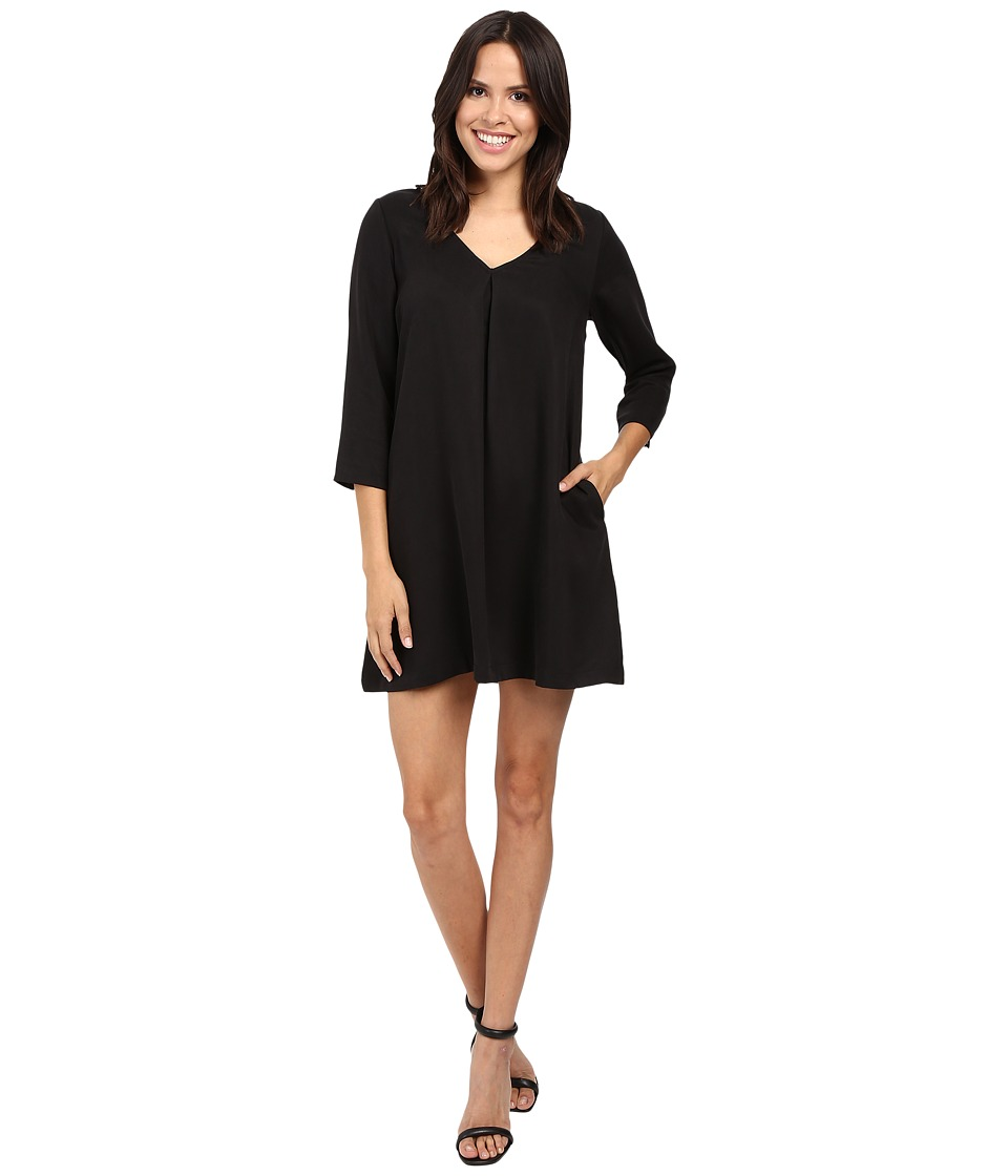Michael Stars - Tencel Vee Neck Swing Dress (Black) Women's Dress