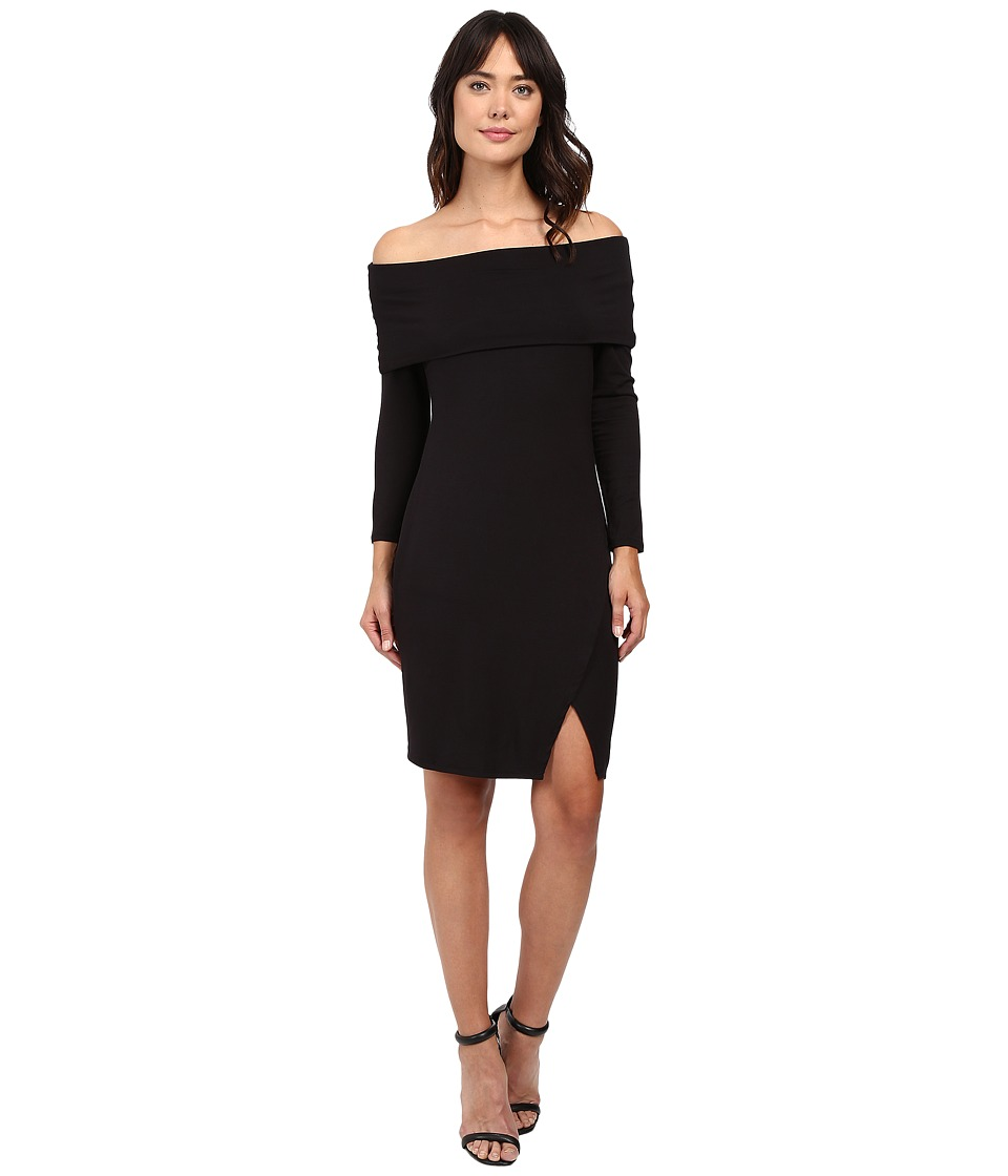 Michael Stars - Off the Shoulder Cross Front Dress (Black) Women's Dress