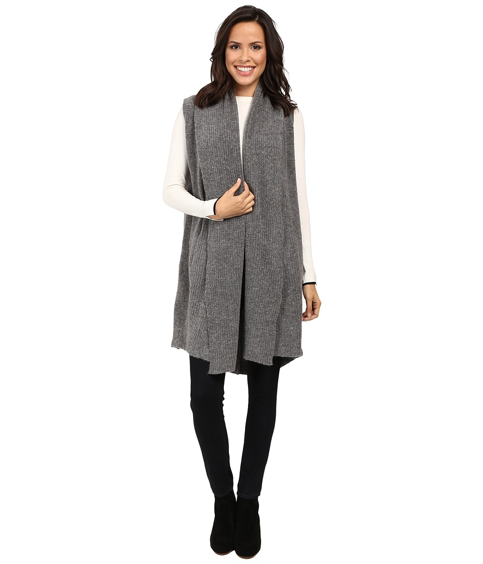 Michael Stars - Yak Vest with Rib and Pockets (Medium Heather Grey) Women's Vest