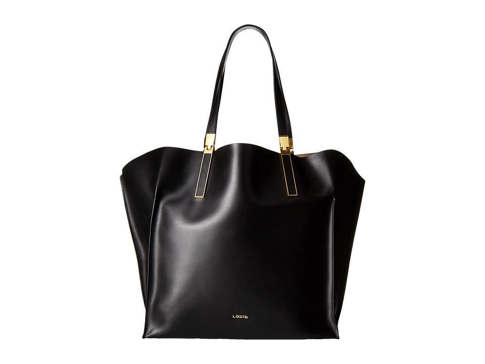 Lodis Accessories - Blair Unlined Lucia Travel Tote (Black/Taupe) Satchel Handbags
