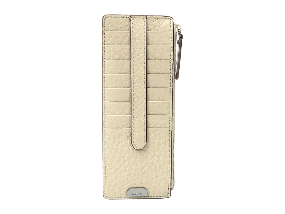 Lodis Accessories - Borrego RFID Under Lock Key Credit Card Case with Zipper Pocket (Taupe) Credit card Wallet