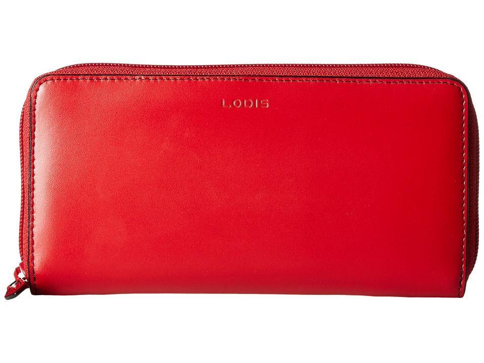 Lodis Accessories - Audrey Ada Zip Wallet (Red) Wallet Handbags